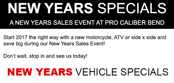 New Years Specials at Pro Caliber Bend