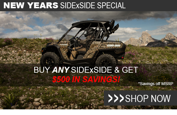 Buy any SidexSide and get $500 in savings!