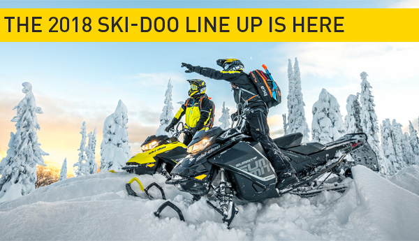 The 2018 Ski-doo line up is here